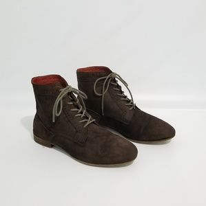 Aerin Brown Suede Lace Boots 7.5